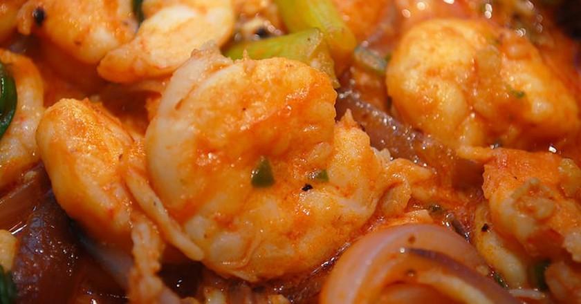 Spicy shrimp in chilli sauce| ©Gnawme/Flickr https://www.flickr.com/photos/normevangelista/5822909830/in/album-72157624531716436/