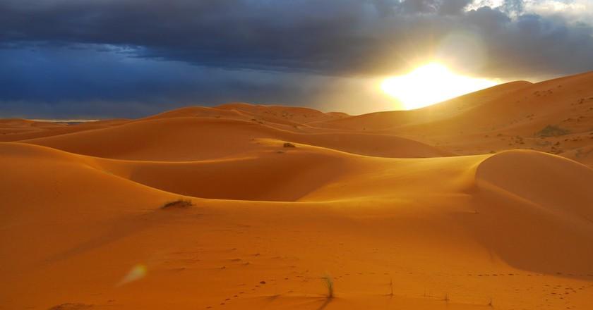 Sublime sunset over the Sahara Desert, Morocco   © Swen George / Flickr