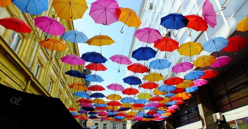 The colourful umbrellas of Belgrade's old town   © Day Zoom/flickr