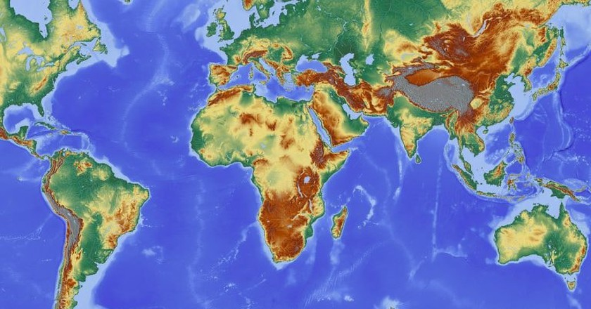 World Map Without New Zealand | © Pixabay