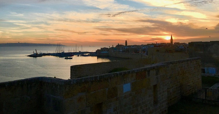 Sunset over Akko's Old City   © Reuben Lewis
