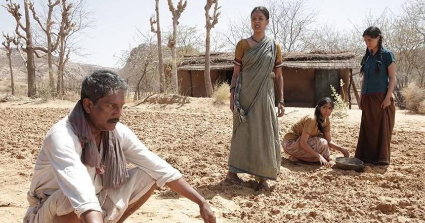 Adil Hussain, Mrunal Thakur, Kiran Khoje, and Riya Sisodiya in Love Sonia   © David Womark