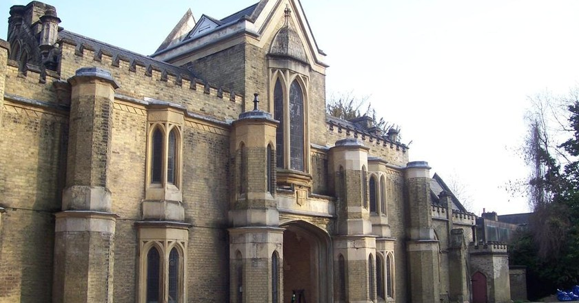 Chapel at Highgate Cemetery, North London