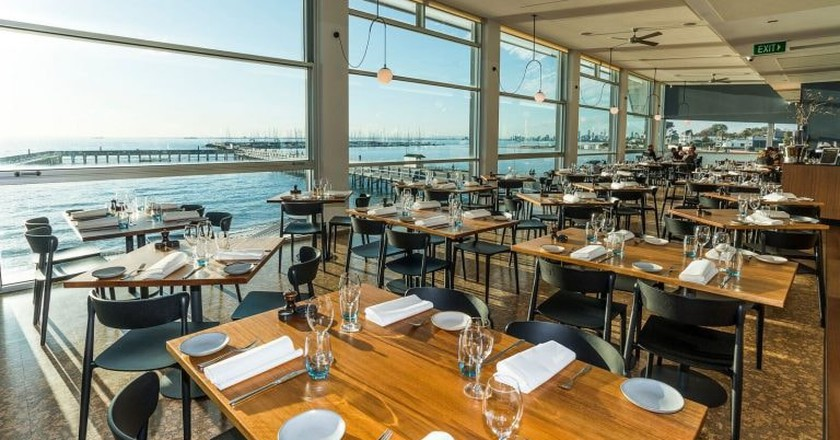 Dining with a view | Courtesy of The Baths Middle Brighton