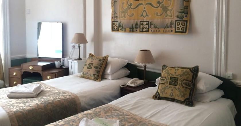 A bedroom in Bloomsbury's Crescent Hotel