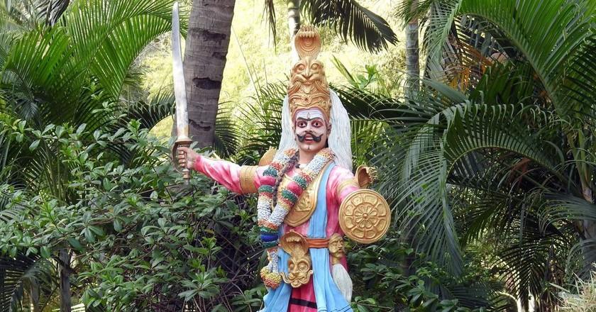 A traditional figure at the entrance of Janapada Loka | © Bindu Gopal Rao