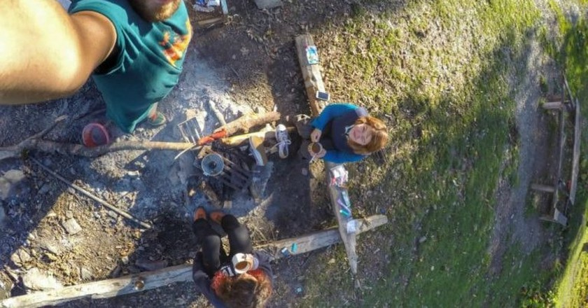 Breakfast during camping in Lagodekhi | © Oto Evteev