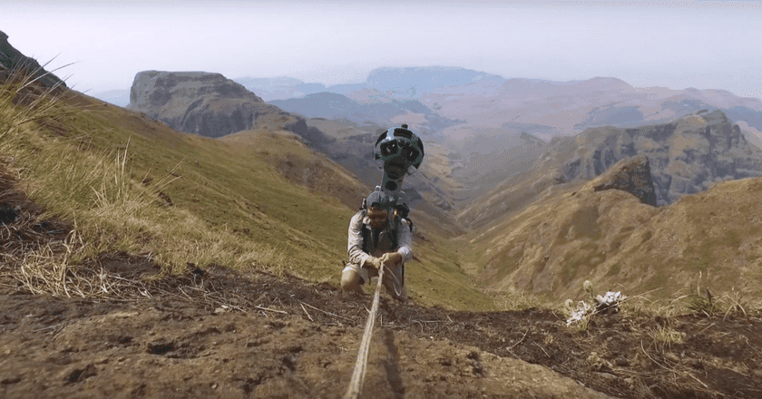 Capturing the Drakensberg Mountains on Google Street View | © Drive South Africa