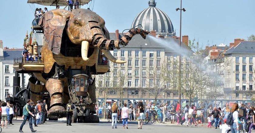 The Grand Elephant, part of Nantes' Machines de l'ile © Jean-Dominique Billaud / LVAN