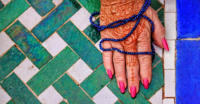 Moroccan tiling, henna, and beads   © rosscainsphotography/Pixabay