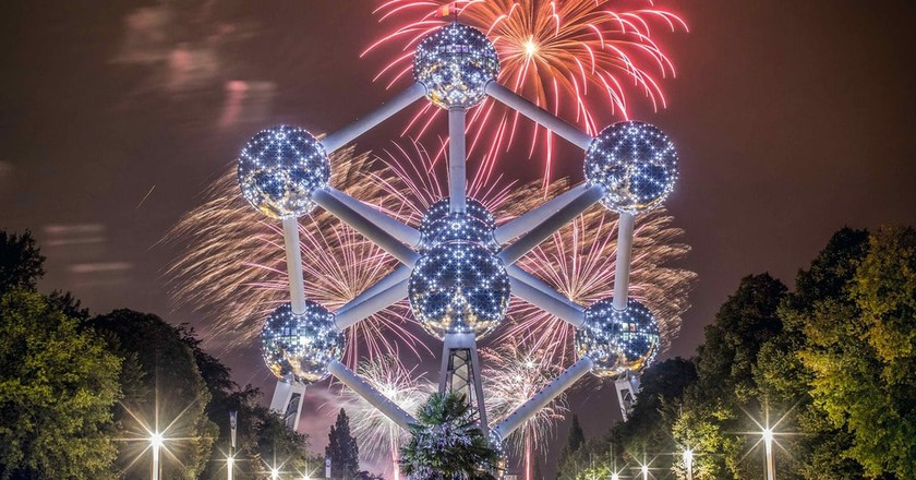 Fireworks at the Atomium | © Eric Danhier / visit.brussels