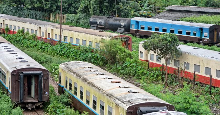 A railyard near Yangon's Central Railway Station, Myanmar | © Chase Chisholm