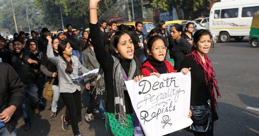 Anti-rape protests in New Delhi, India | © ZUMA/REX/Shutterstock