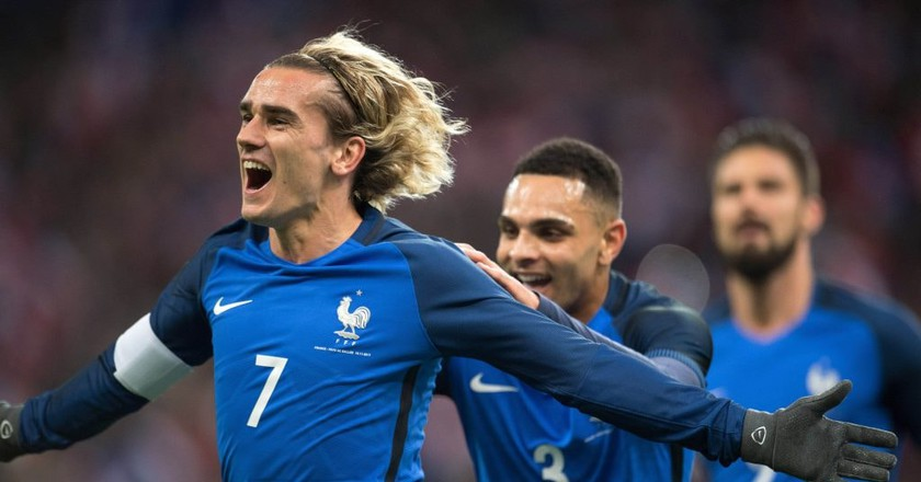 Antoine Griezmann and France are among the favorites to win the 2018 FIFA World Cup | Xinhua/REX/Shutterstock