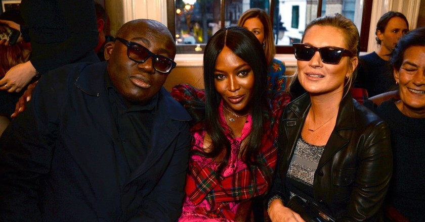 Edward Enninful, Naomi Campbell and Kate Moss | © Richard Young/REX/Shutterstock