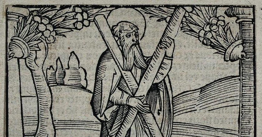 Saint Andrew Wood Engraving | © Wellcome Images via WikiCommons
