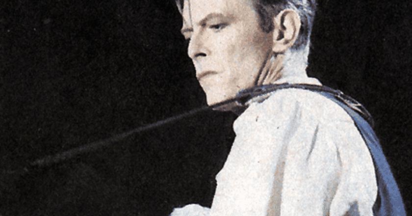 David Bowie wears Mr. Fish
