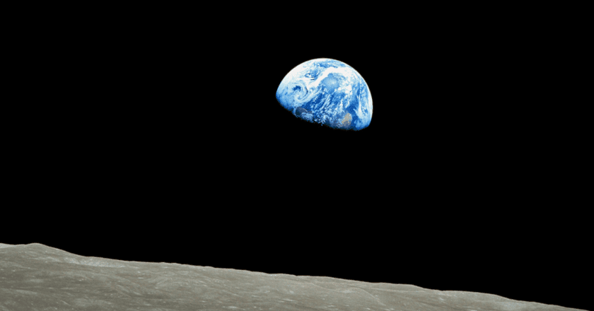 'Earthrise' taken during the Apollo 8 mission on December 24, 1968