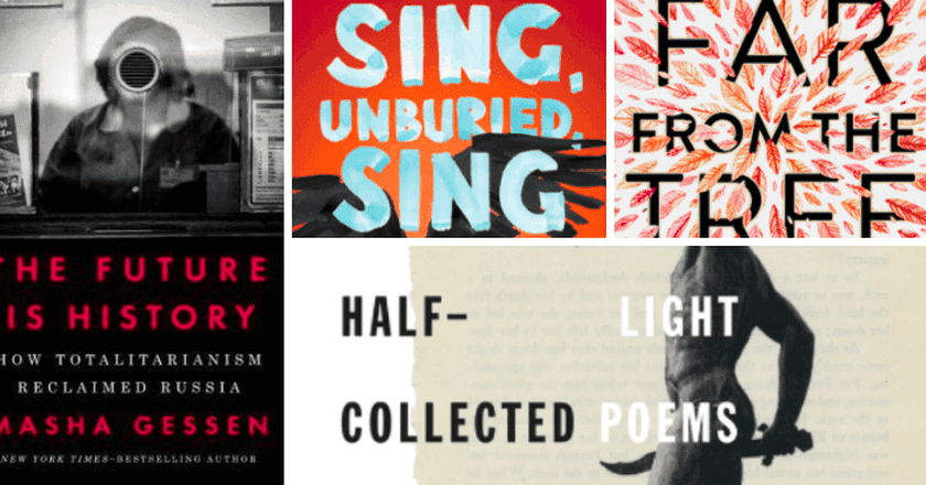 Covers courtesy of the following publishers (clockwise from left): Penguin Random House, Scribner, Harper Teen, Farrar Straus and Giroux