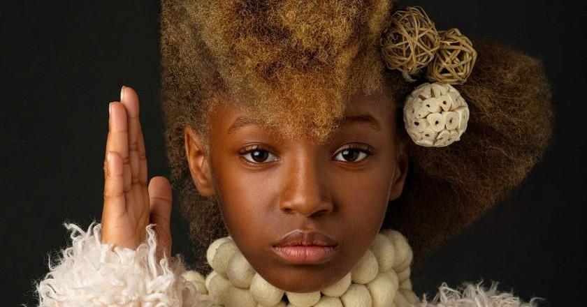 Baroque-Inspired Portrait Series Celebrates Black Girls' Natural Beauty