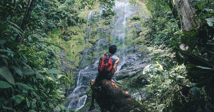 Waterfall gazing in Thailand