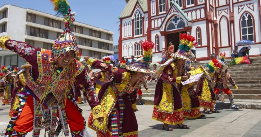 Tinkus dance during a street parade, Arica, Chile | © JeremyRichards/Shutterstock