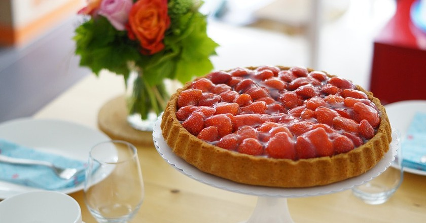 Strawberry tart | © Kalorienpalast / Pixabay