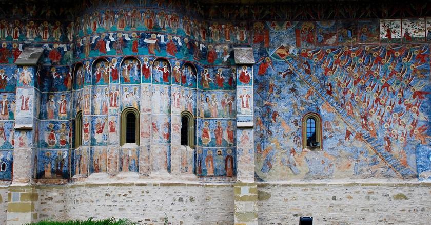 Outdoor Frescoes at Sucevita Monastery   © Remus Pereni / Flickr