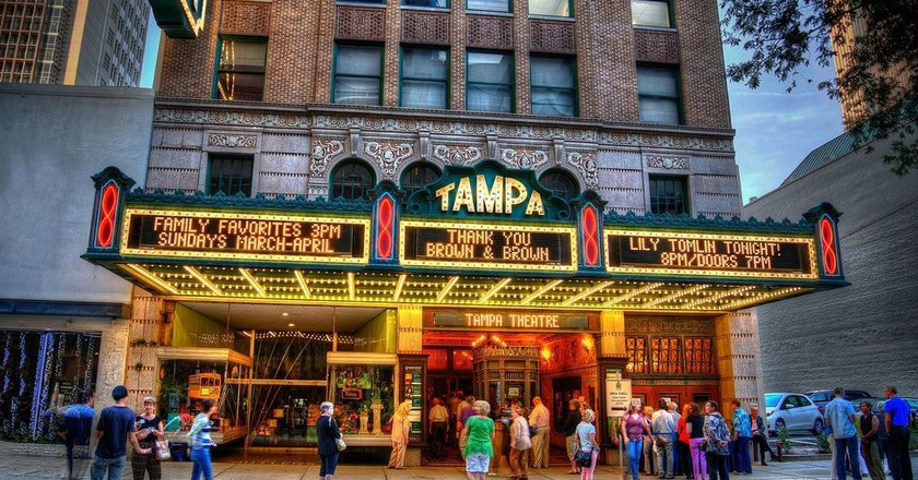 Tampa theatre exteriors | Courtesy of Tampa Theatre