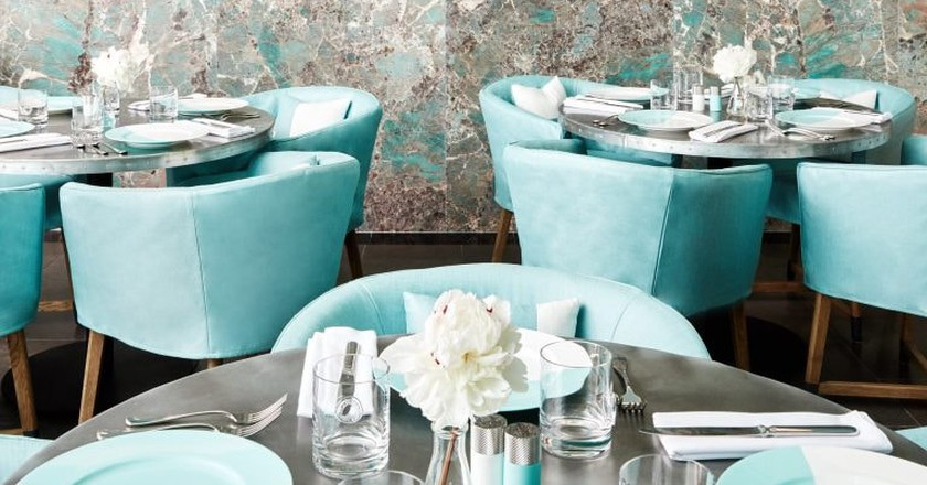The Blue Box Cafe at Tiffany & Co's flagship store
