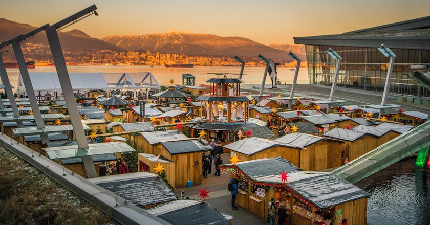 Vancouver Christmas Market Sunset | Courtesy of Vancouver Christmas Market