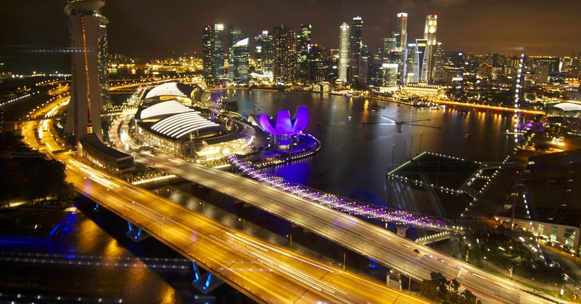 View of Marina Bay from the Singapore Flyer