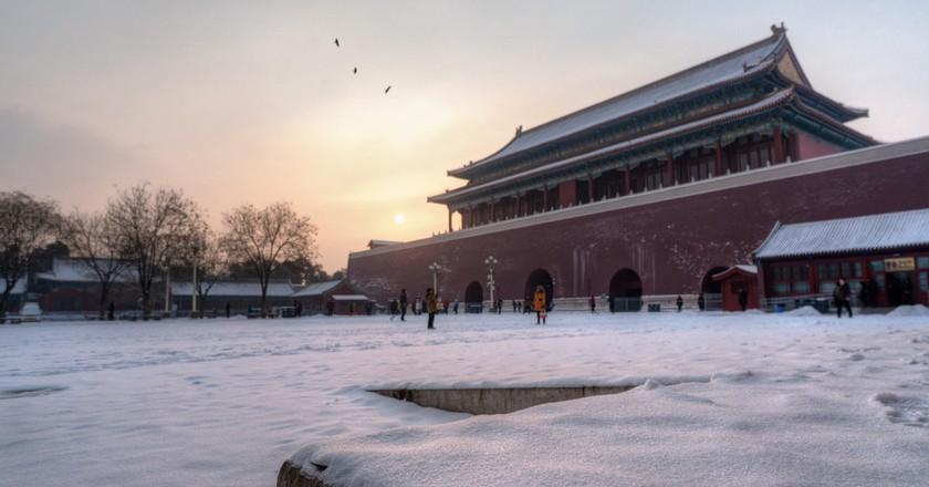 Snowy morning at the Forbidden City   © Nathan Quarles / Flickr