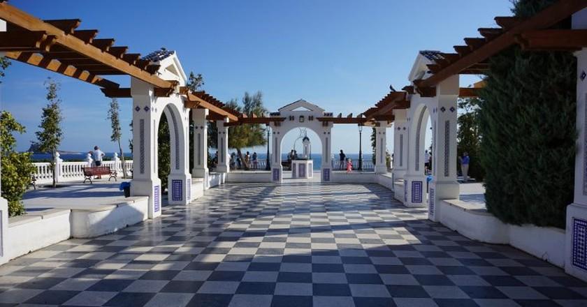 The colonnade in Benidorm, Spain.