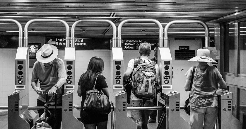 NYC Subway Riders | © John St John / Flickr