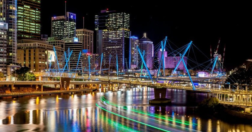 Brisbane River at Night © Flickr / Andrew Sutherland
