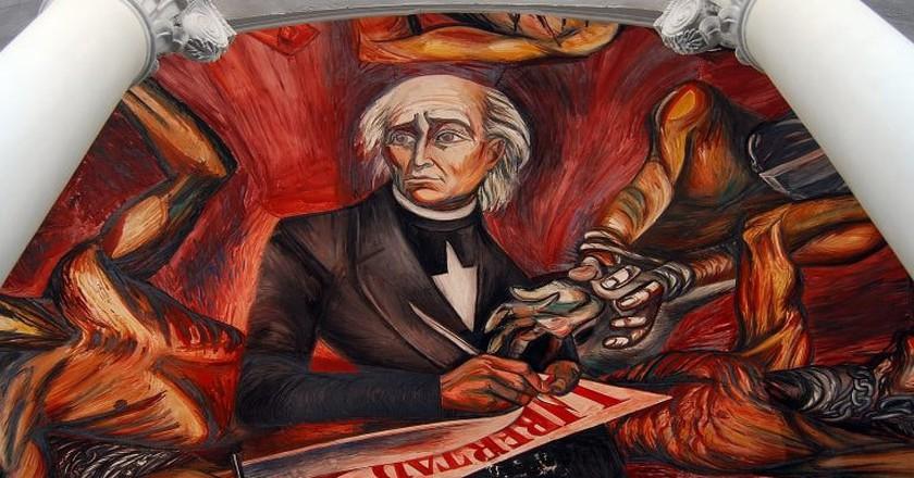 Image of the independence leader Miguel Hidalgo in the Palacio de Gobierno, Guadalajara | © Carlos ZGZ / Flickr