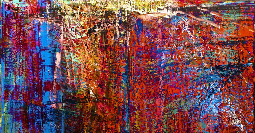 Abstract Painting by Gerhard Richter, one of Germany's most famous artists   © Pedro Ribeiro Simões/Flickr