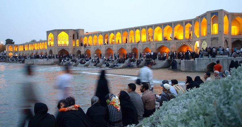 Khaju Bridge, Esfahan   © Morten Knutsen / Flickr