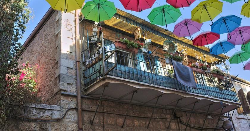 Jerusalem Umbrella Street PopUp | © Yair Aronshtam/Flickr