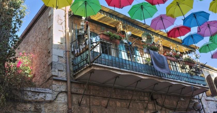 Jerusalem Umbrella Street PopUp   © Yair Aronshtam/Flickr