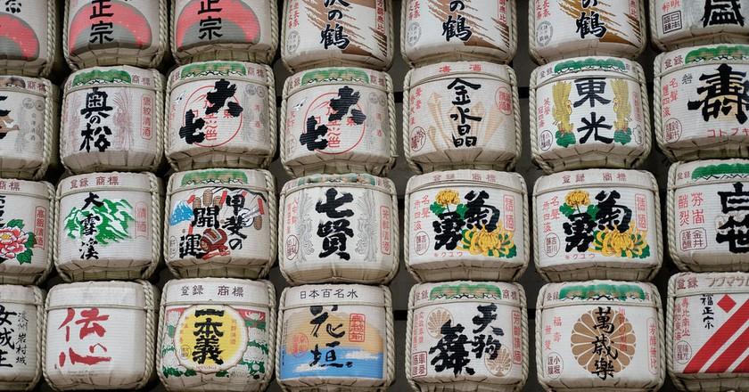 Sake barrels | © Leng Cheng / Flickr