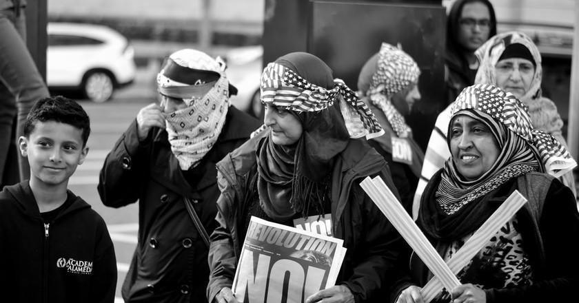 Anti Muslim Ban Protest   © Tom Hilton/Flickr CC
