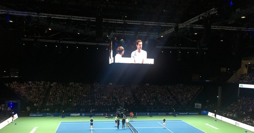 Andy Murray vs Grigor Dimitro at SSE Hydro Glasgow | © David Jones/Flickr