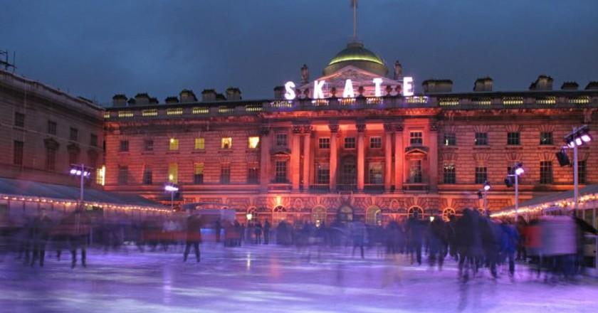 Skating at Somerset House | © Ben Cope/Flickr