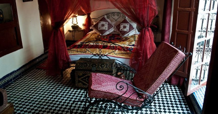 Beautiful room in a traditional Moroccan riad   © Anna & Michal / Flickr