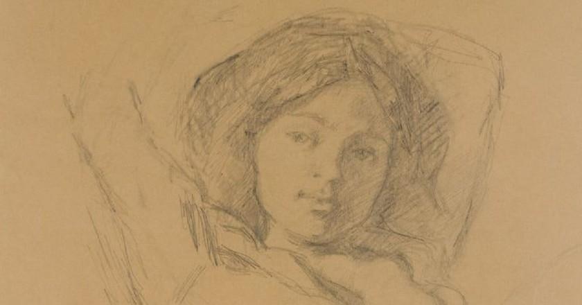 Balthus, 'Portrait de Katia' (1967) | cea + Flickr