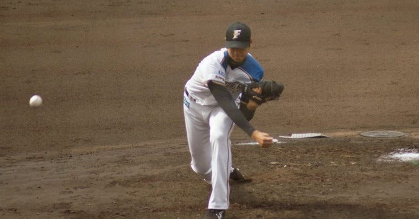 Ohtani pitching for the Nippon Ham Fighters   © shiori.k / Flickr