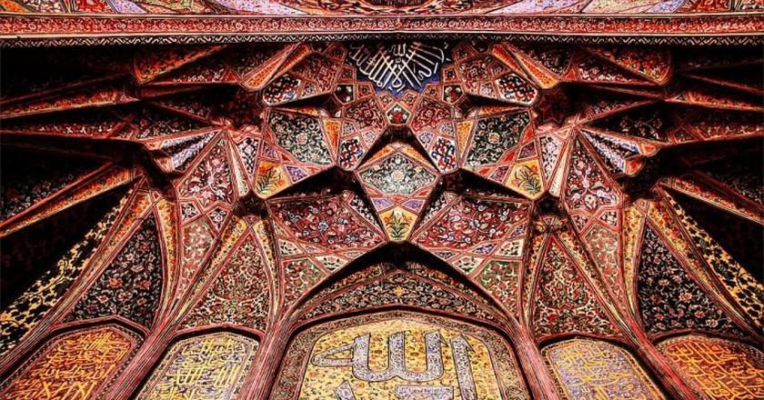 Artwork in Wazir Khan Mosque   © Kkashaff/WikiCommons