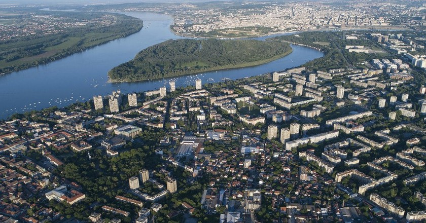 An aerial shot of the Serbian capital | © WikiCommons
